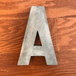Anthropologie Metal Monogram Letter A